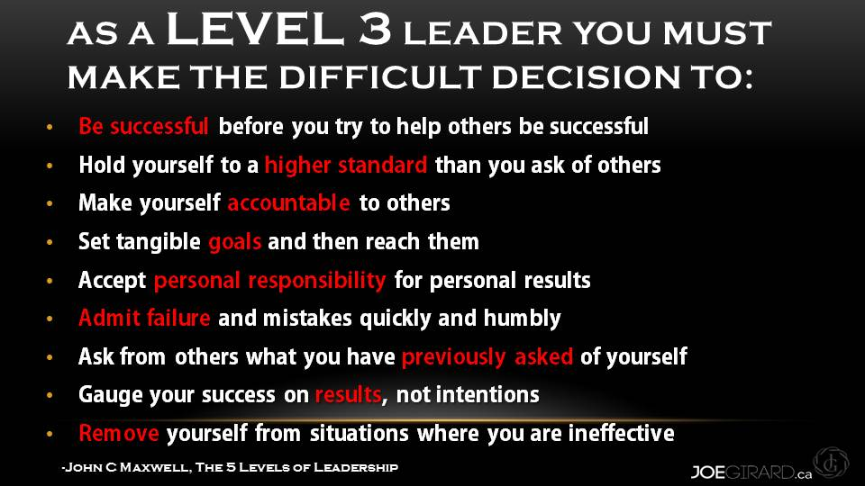 Level 3 Leaders Demonstrate - Joe Girard