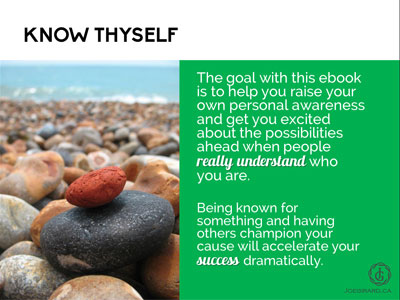 Personal Branding Ebook, Joe Girard, Know Thyself