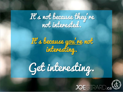 Personal Branding Ebook, Joe Girard, Get Interesting