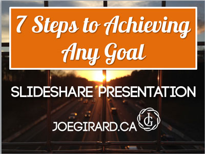 Steps to Achieving Any Goal, Joe Girard
