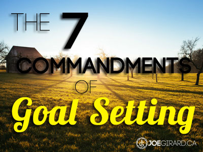 Goal Setting, Joe Girard