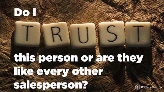 Trust, Joe Girard, Sales