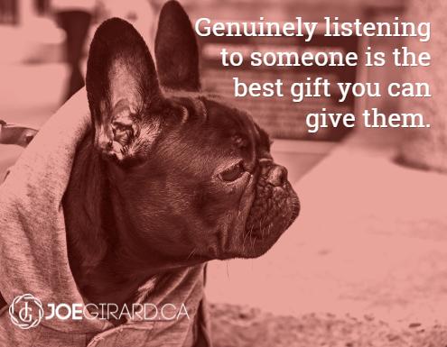 Listening Quote, Joe Girard