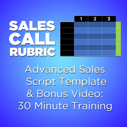 Sales call rubric advanced sales call script template and for Sales call cycle template