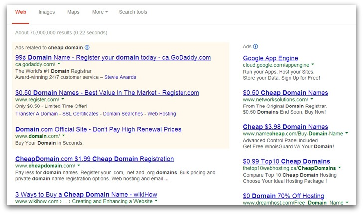 Get a domain name for cheap