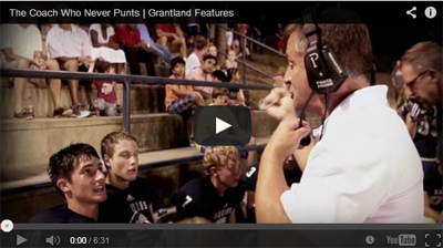 be a change agent - football coach never punts