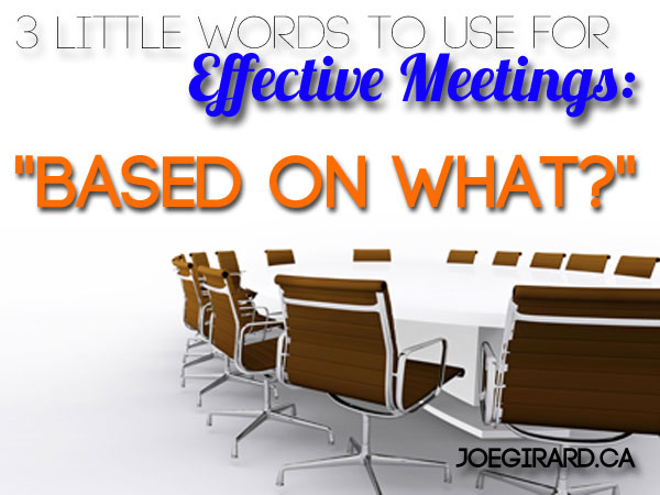 Boardroom, effective meeting, chairs, Joe Girard