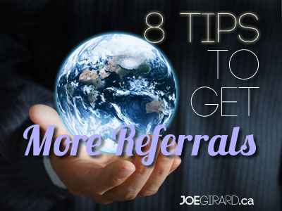 Referrals, Joe Girard, Sales
