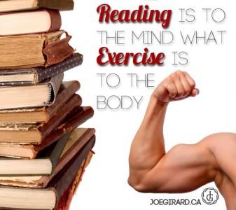 Reading, Exercise, Joe Girard, Quote