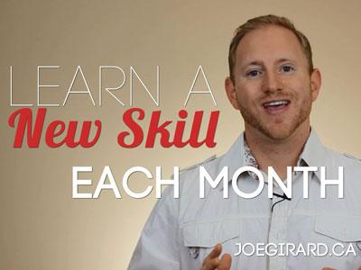 Learn a New Skill, personal Development, Joe Girard