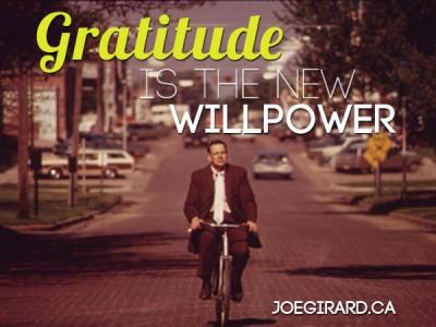 Gratitude, Willpower, Joe Girard, Success Habit