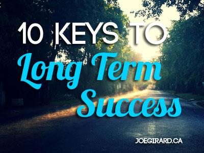 Keys to Long Term Success, Joe Girard