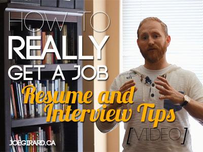 Resume and Interview tips, Joe Girard