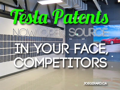 Tesla Patents Now Open Source: In Your Face, Competitors