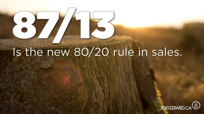 80 20 Rule, Joe Girard, Sales
