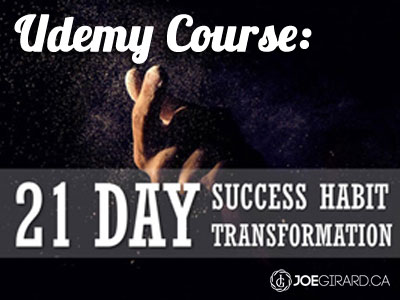 Udemy Course, Joe Girard, Success Habits