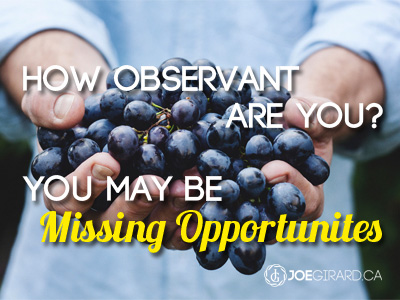 observant, missing opportunities, joe girard