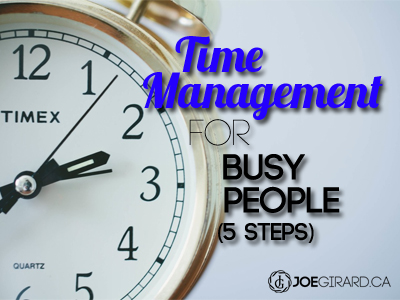 time management, joe girard