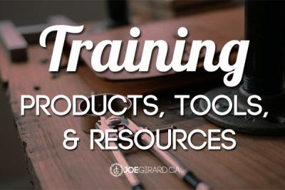 Online Training, Sales training Products, Tools, Joe Girard