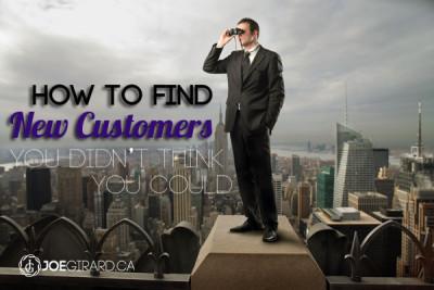 Find New Customers, Joe Girard, Sales Training, Canada