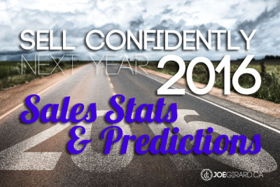 sell confidently, 2016, sales stats